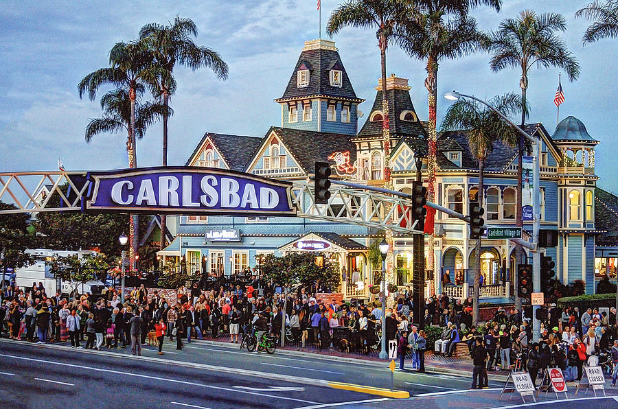 Carlsbad Photograph - Carlsbad Village Sign by Ann Patterson