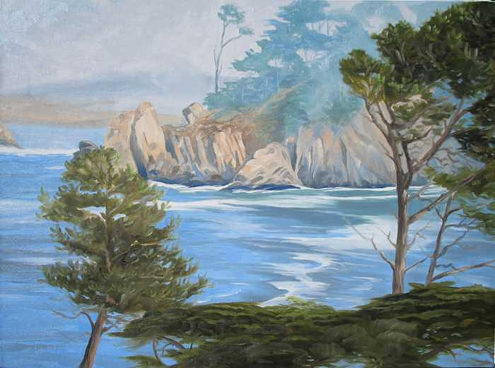 Carmel Bay Painting by Jay Johnson
