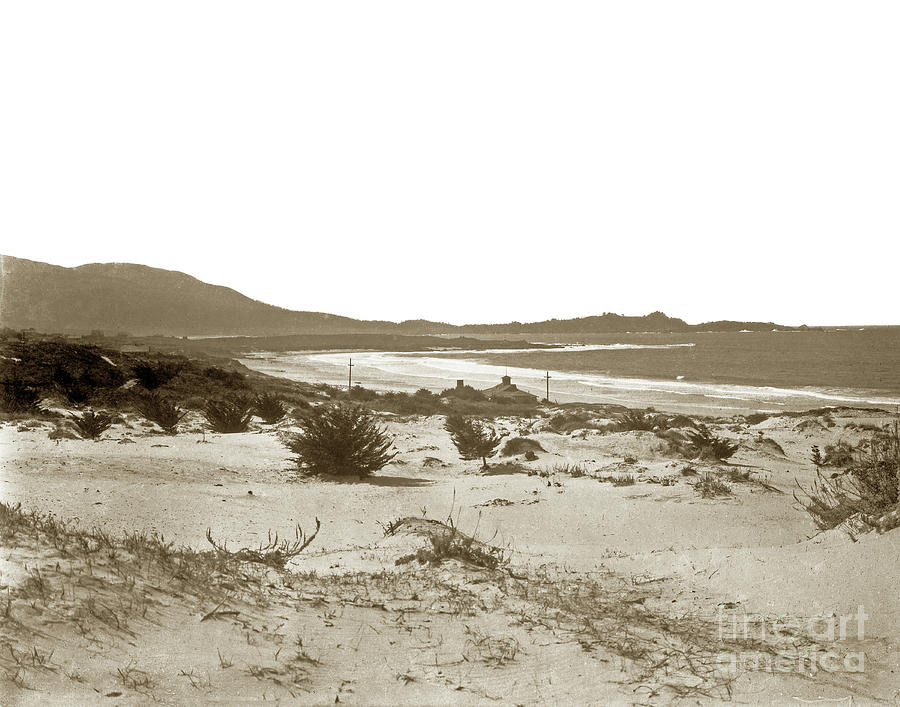 Carmel Beach Photograph - Carmel Beach, Carmel Point And Point Lobos Circa 1925 by California Views Mr Pat Hathaway Archives