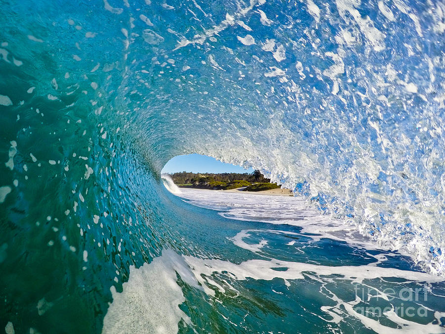 Waves Photograph - Carmel Blues by Paul Topp