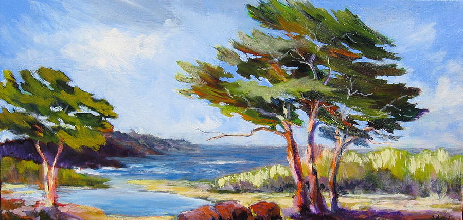 Carmel By The Sea Painting by Barbara Moore