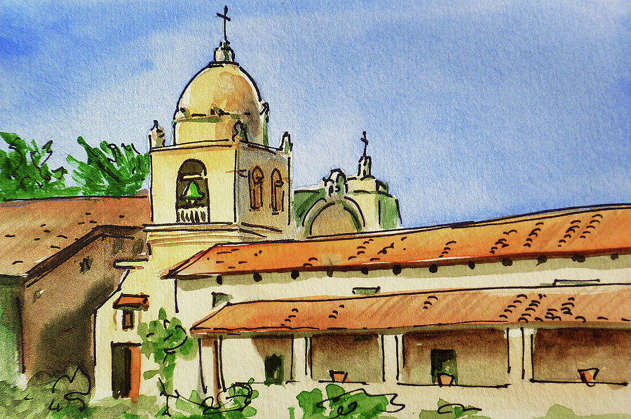 Carmel Painting - Carmel By The Sea - California Sketchbook Project  by Irina Sztukowski