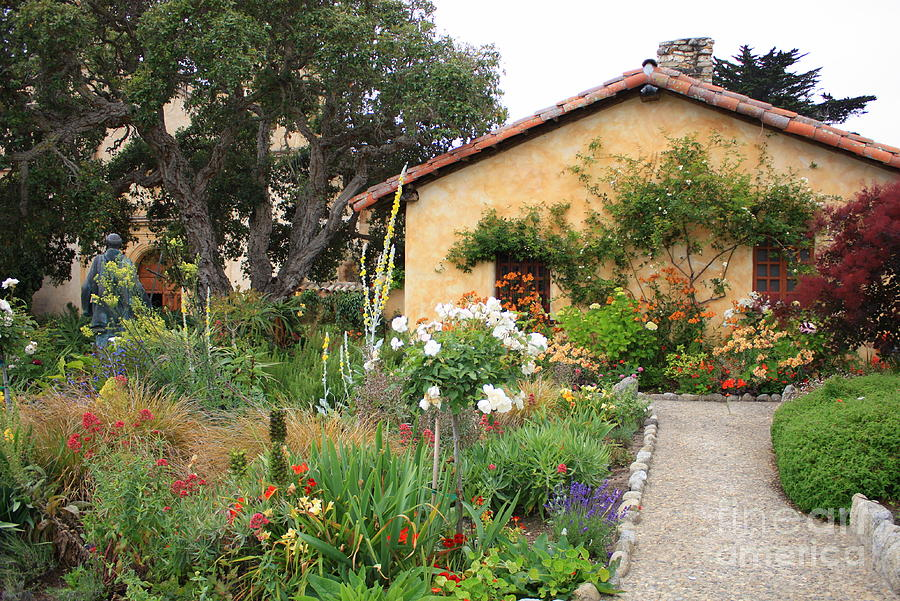 Carmel Photograph - Carmel Mission With Path by Carol Groenen