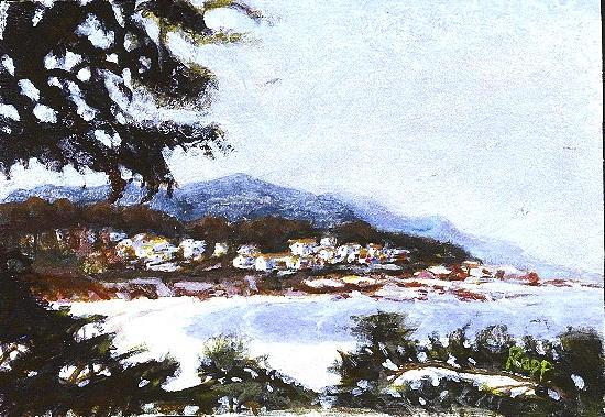 Carmel Painting - Carmel View by Jan Rapp