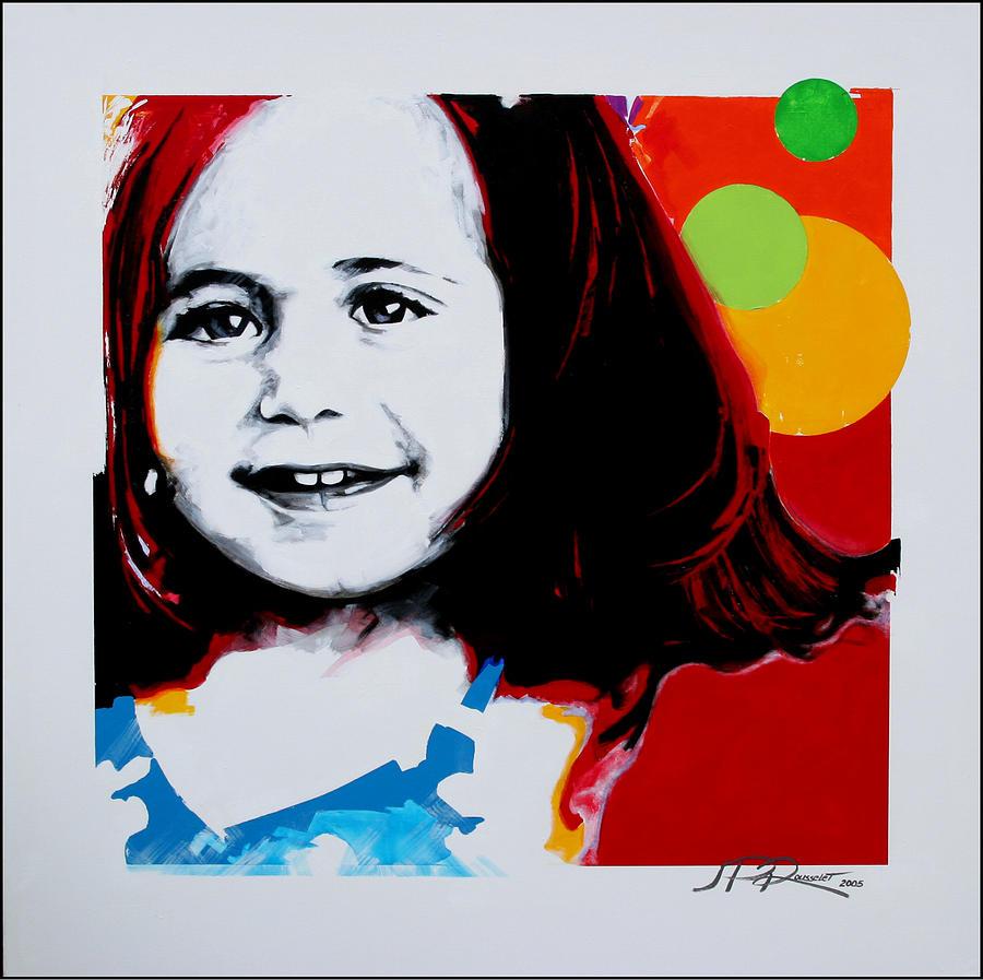 Portrait Painting - Carmen by Jean Pierre Rousselet