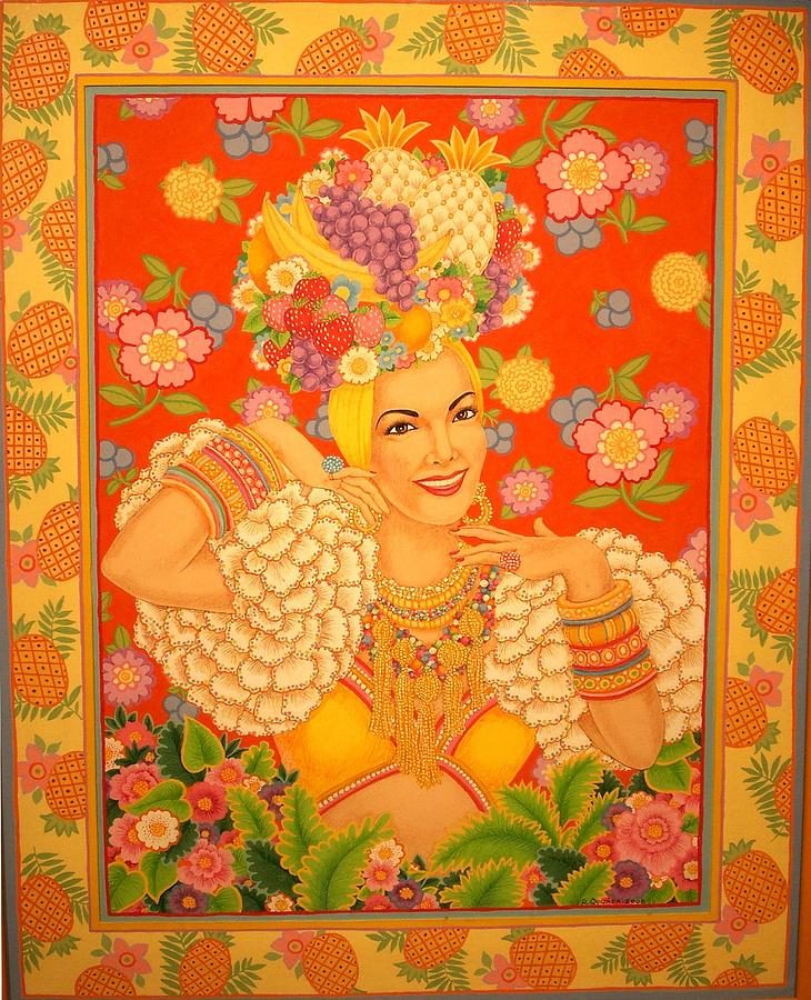 Icons Painting - Carmen Miranda by Robert Quijada