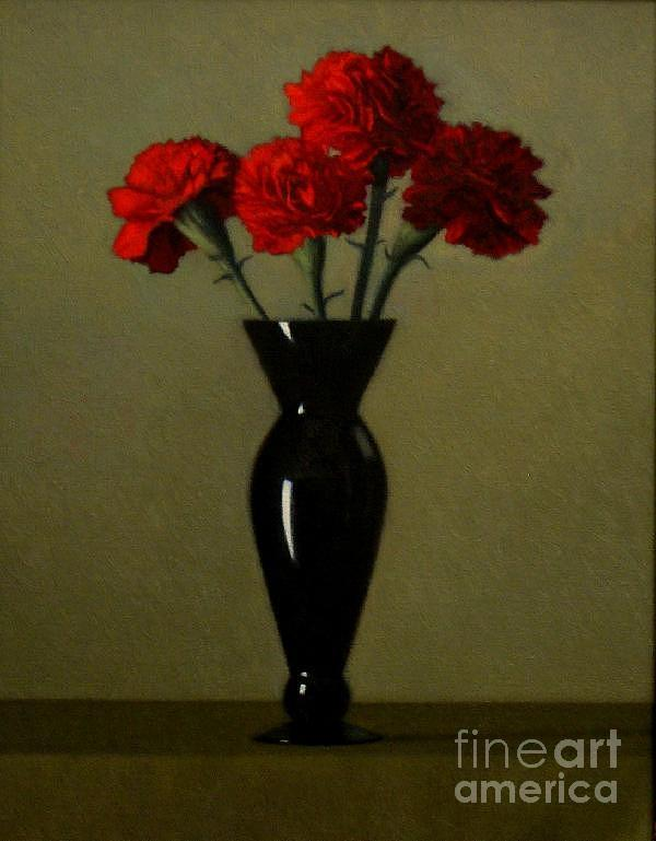 Carnations Painting - Carnations by Keith Murray