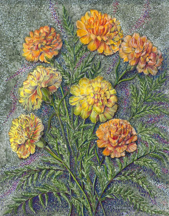 Still Life Painting - Carnations by Tatiana Rodionova