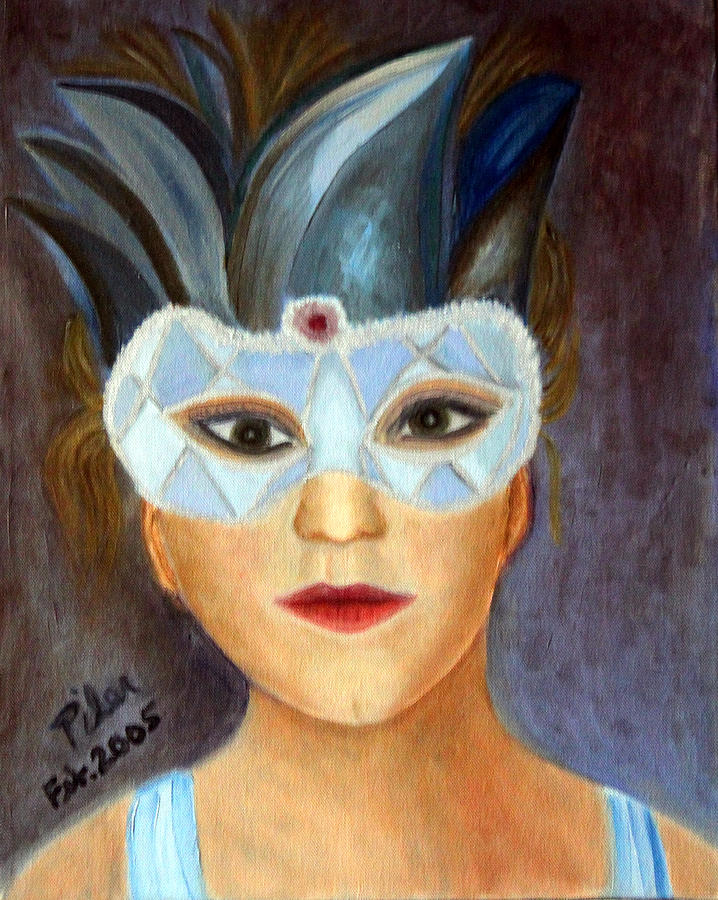 Mask Painting - Carnaval by Pilar  Martinez-Byrne