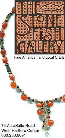 Semi-precious Stones Glass Art - Carnelian Briolette Necklace by Marias Funky Crafts