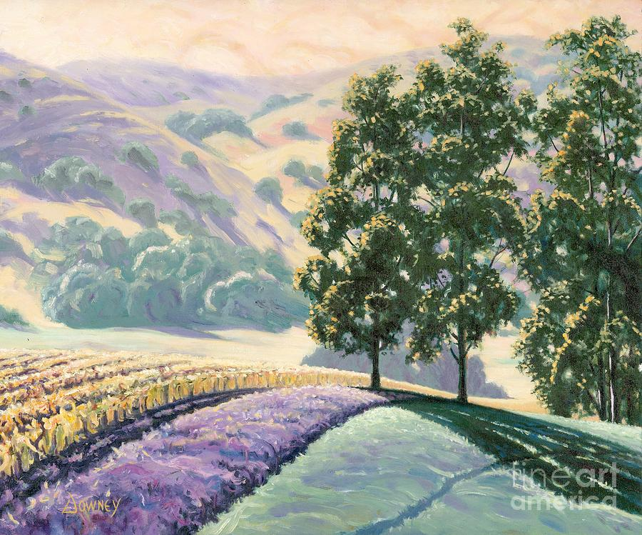Oil Painting - Carneros by Carl Downey