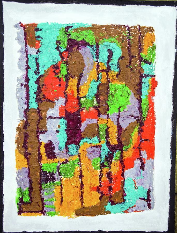 Oil Pastel Painting - Carnevale Quilt by Judith Ghetti Ommen