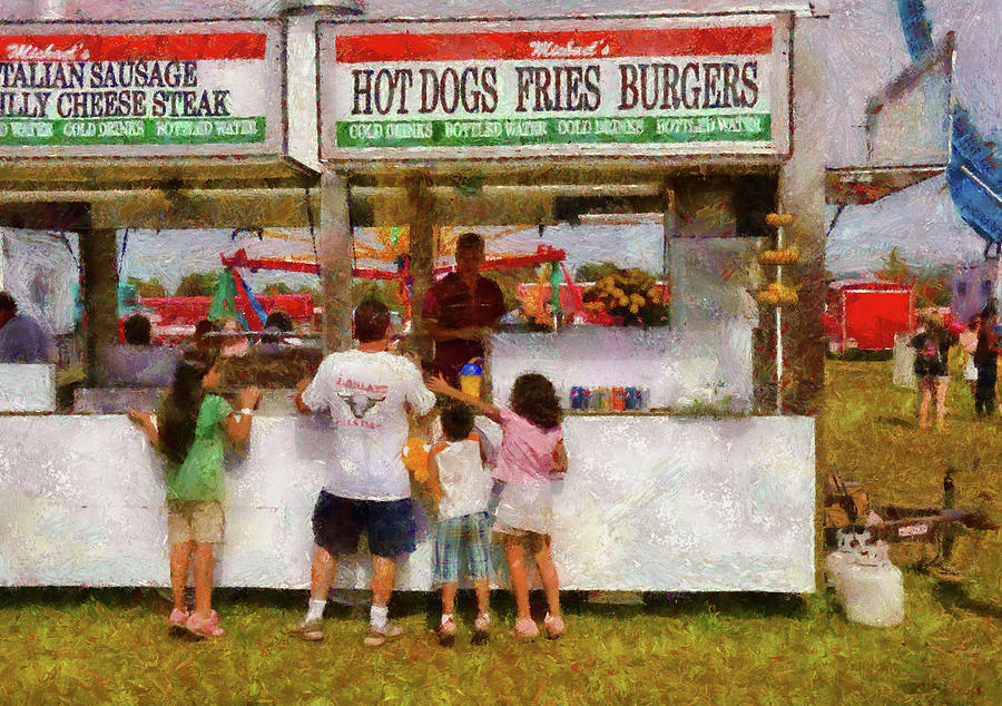Savad Photograph - Carnival - Daddy I Want A Hot Dog by Mike Savad