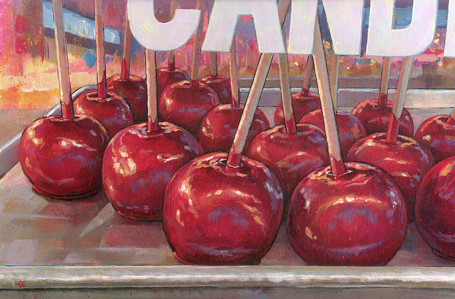 Carnival Apples by Lesley Spanos