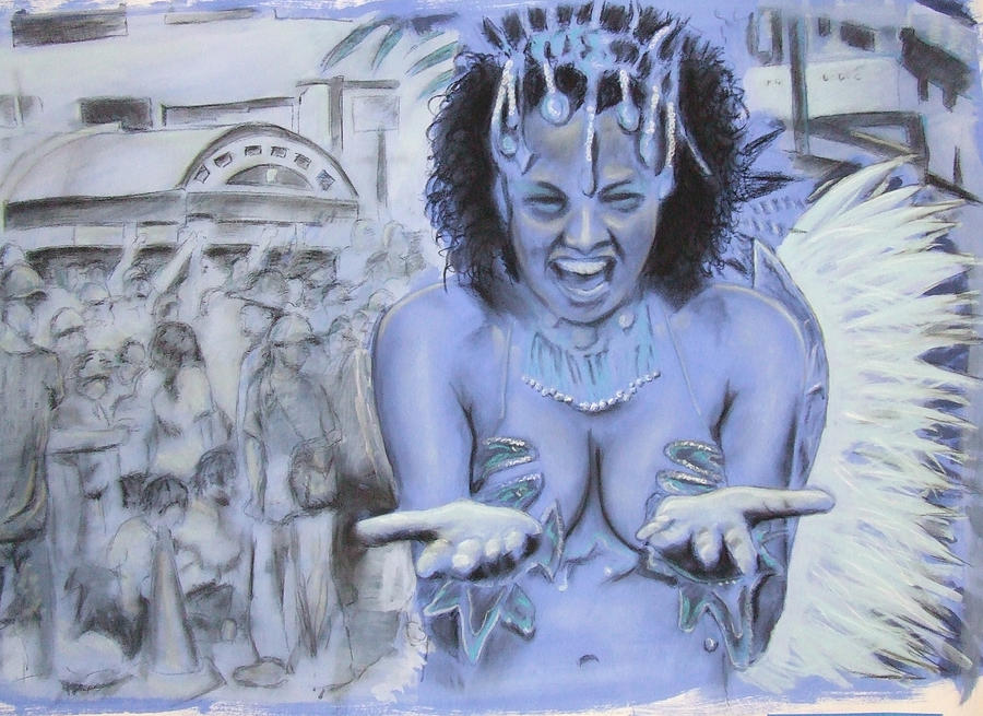 Carnival Azul Mixed Media by Chad Haskell