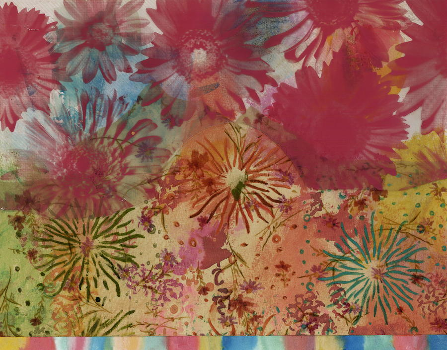 Flowers Painting - Carnival by Gloria Von Sperling