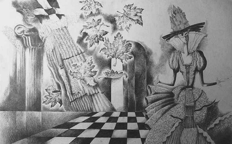 Drawing Drawing - Carnival I by Yelena Revis