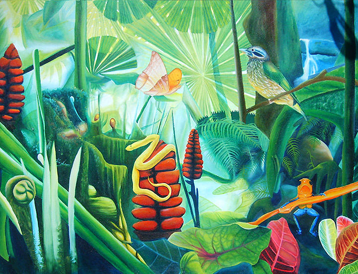 Jungle Painting - Carnival In The Jungle by Leonard Aitken