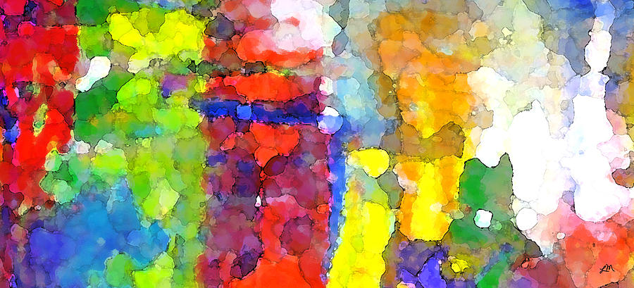 Abstract Digital Art - Carnival Lights by Linda Mears