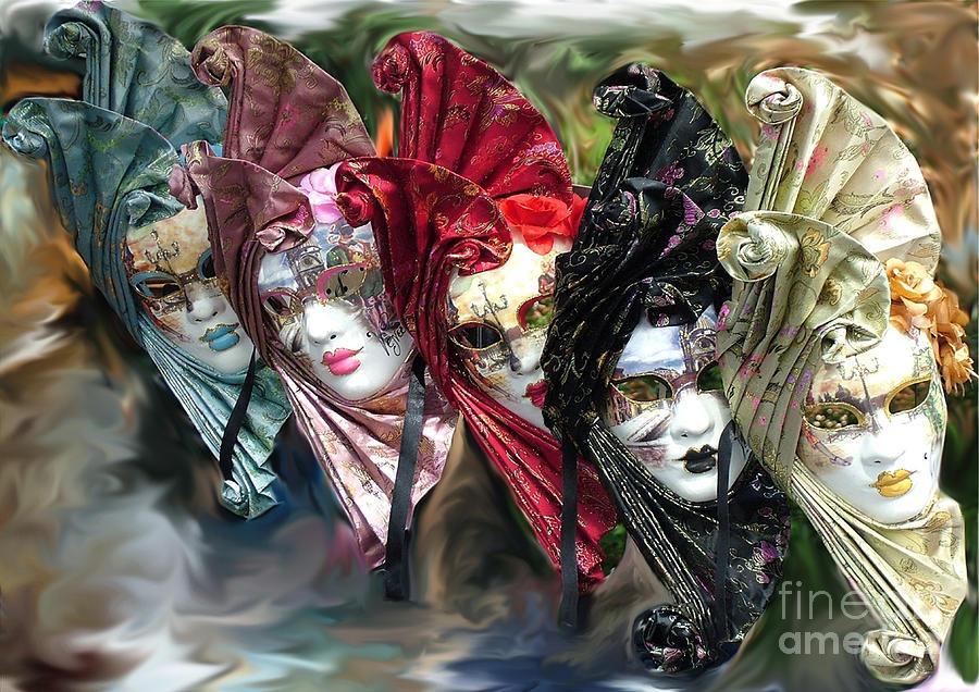 Carnival Masks Venice by Sheila Laurens