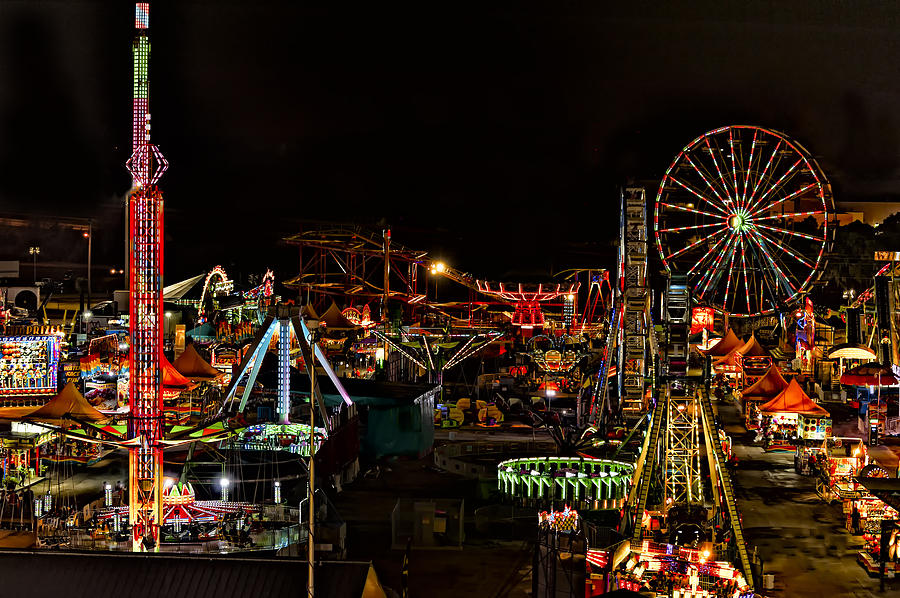 Carnival Midway by Linda Constant