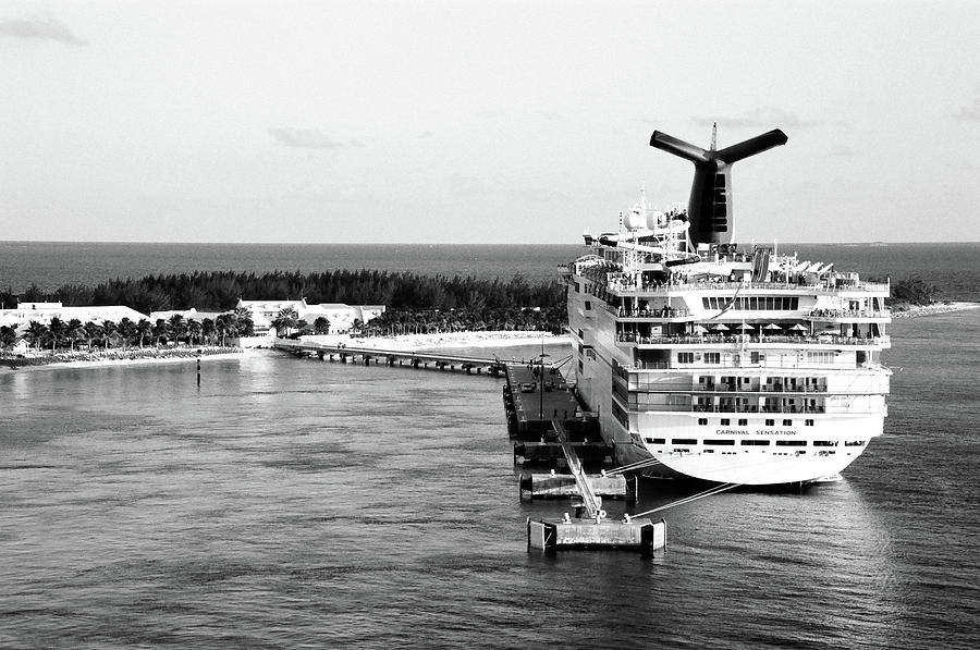 Carnival Sensation Photograph - Carnival Sensation Cruise Ship - Grand Turk Island by Timothy Wildey
