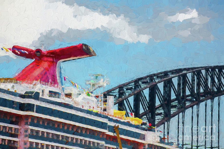 Carnival Spirit Photograph - Carnival Spirit And Harbour Bridge by Sheila Smart Fine Art Photography