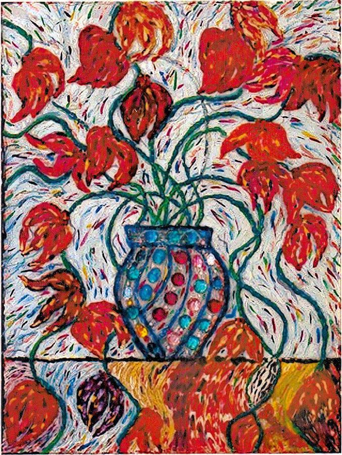 Floral Painting - Carnivale Of Flowers by Brenda Adams