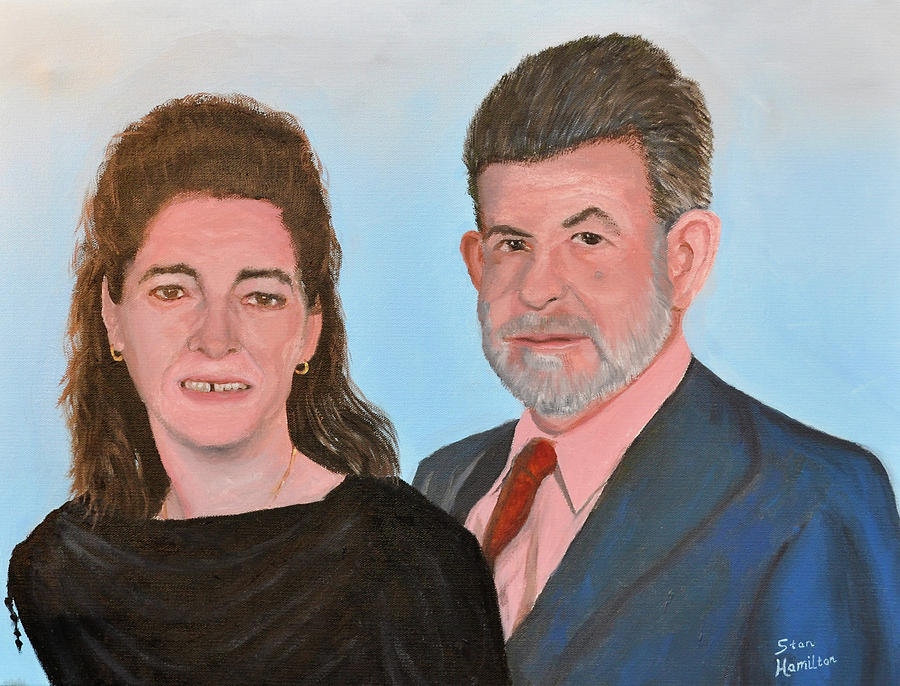 Portrait Painting - Carol and Max by Stan Hamilton