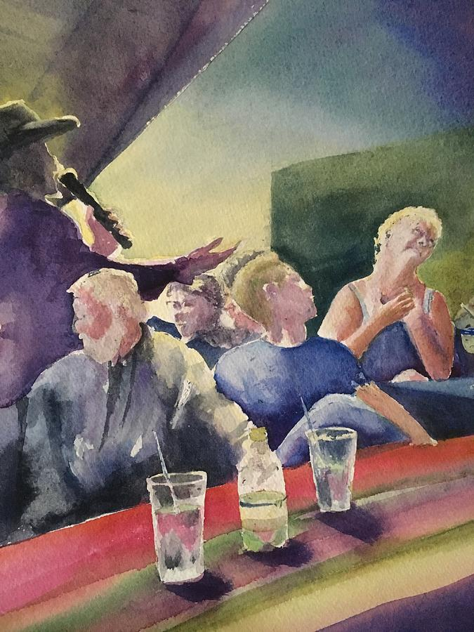 Bar Painting - Carol and the Crooner by Diane Binder