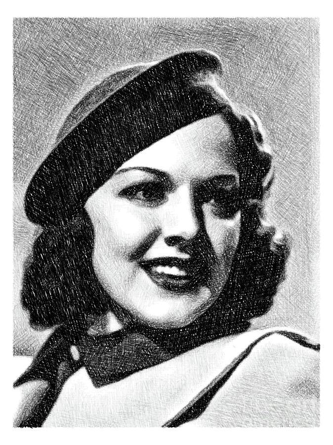 Carol Hughes, Vintage Actress By Js Drawing