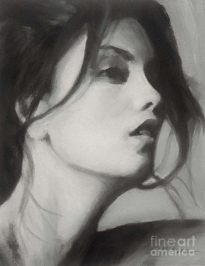 Oil Painting - Carol by Robert Tillotson