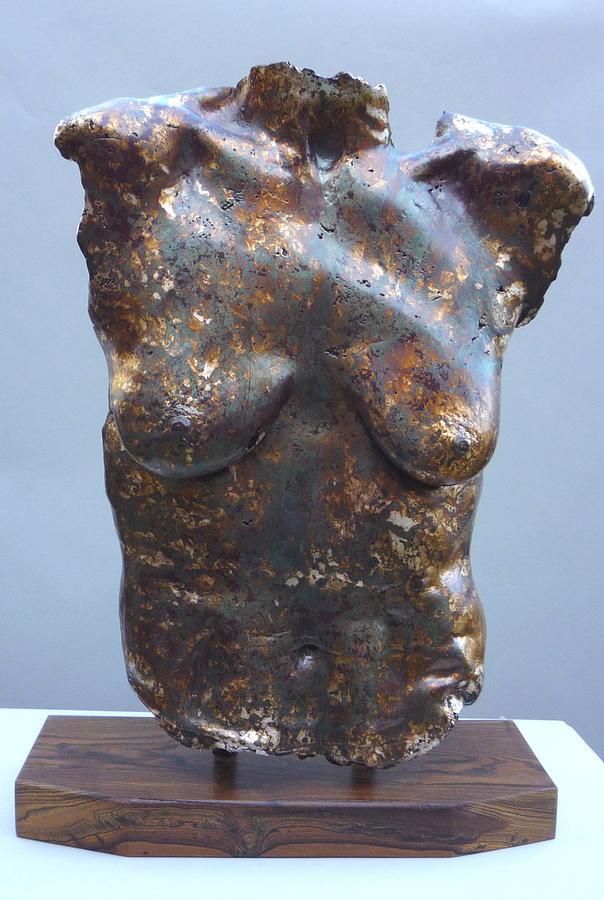 Nude Sculpture - Carol Silver Leaf by Wayne Berger
