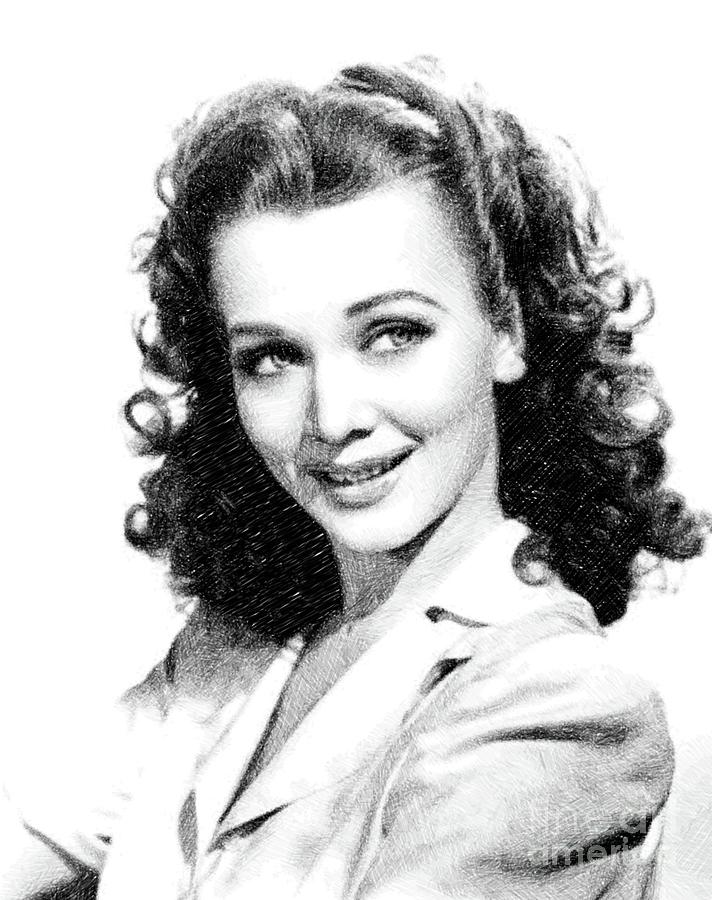 Carole Landis, Vintage Actress By Js Drawing