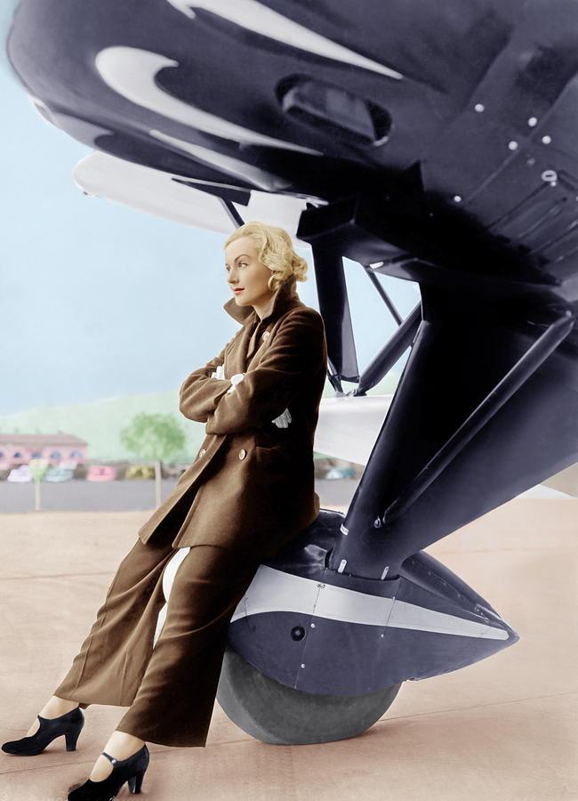 1930s Fashion Photograph - Carole Lombard, Ca. 1935 by Everett