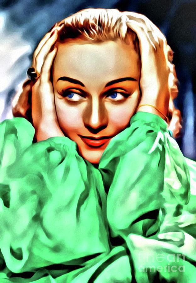 Carole Lombard, Hollywood Legend, Digital Art By Mary Bassett Digital Art