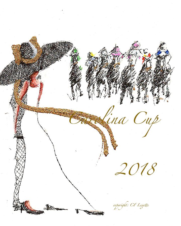 Camden Drawing - Carolina Cup  by C F Legette