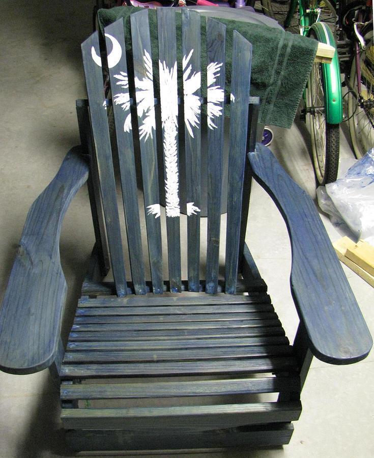 Custom Furniture Mixed Media - Carolina Lawn Chair by Mark E Smith