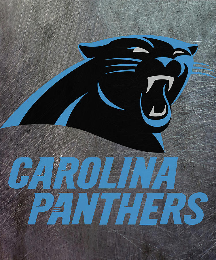 eebc2569 Carolina Panthers On An Abraded Steel Texture by Movie Poster Prints