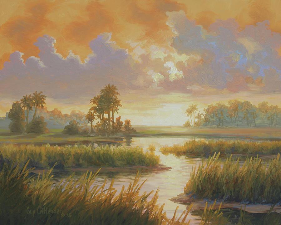 South Carolina Painting - Carolina Sunrise by Guy Crittenden