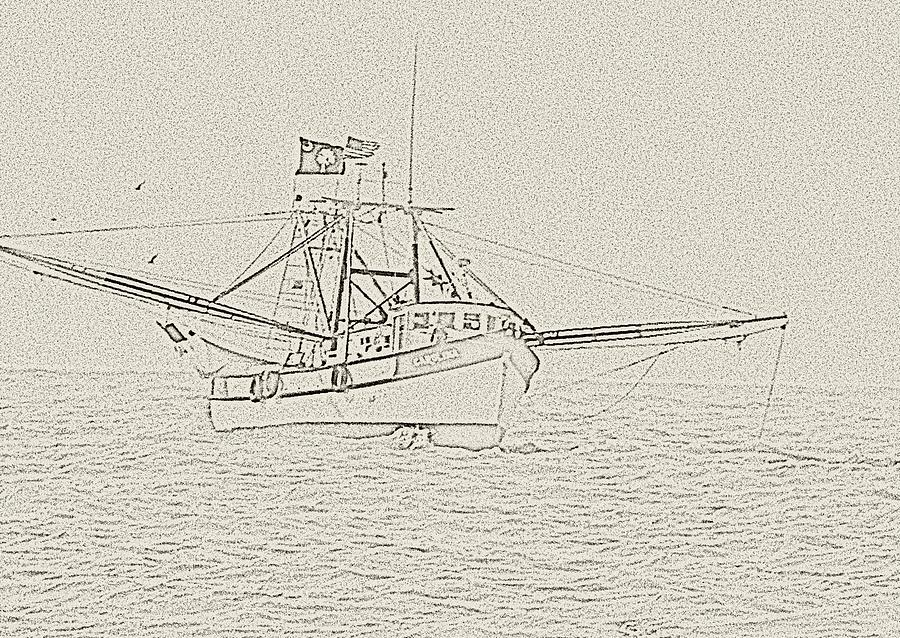 Shrimpboat Photograph - Carolina by Ted Putman