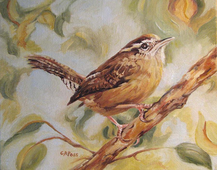Birds Painting - Carolina Wren II by Cheryl Pass