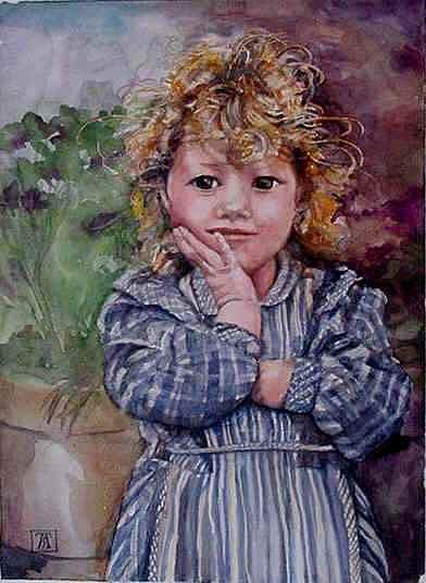 Caroline Painting by TBH Fine Art