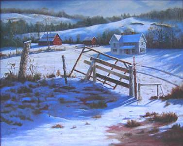 Snow Painting - Carols Farm by Pat Aube Gray