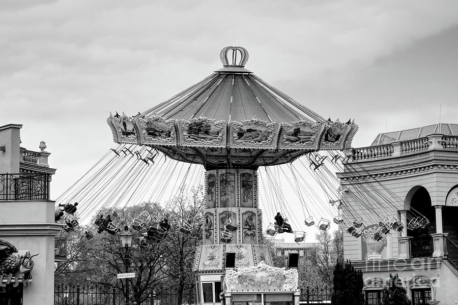 Carousel Black And White Photography Photograph