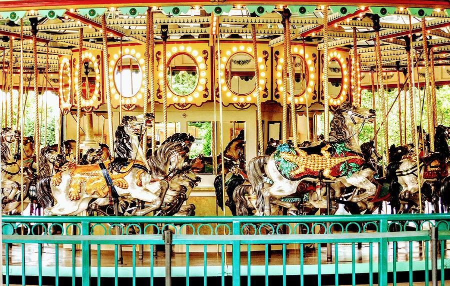Carousel Photograph - Carousel - Como Zoo, St. Paul, Minnesota by Curtis Tilleraas