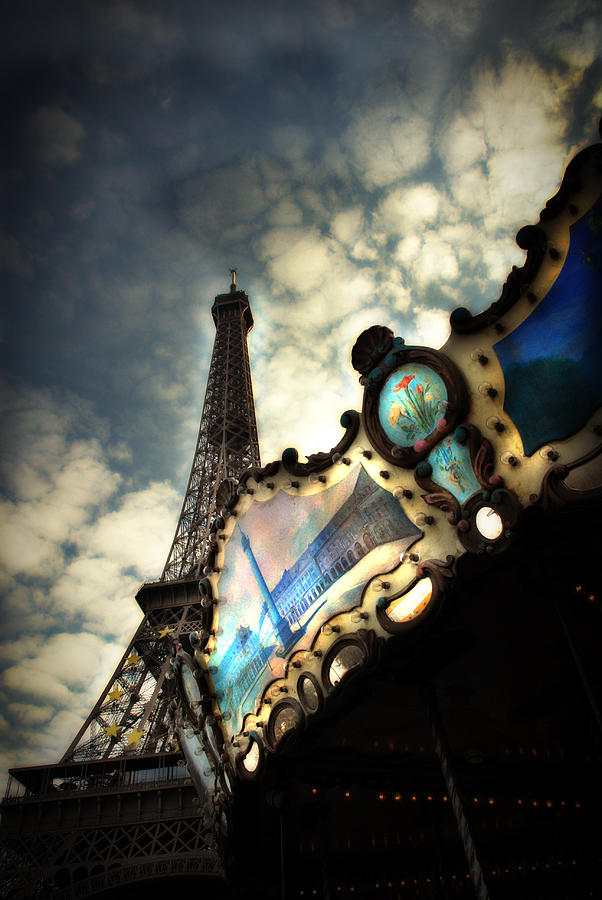 Eiffel Tower Photograph - Carousel Eiffel by Cabral Stock