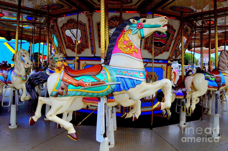 Carousel Horse With Saddle by Mary Deal