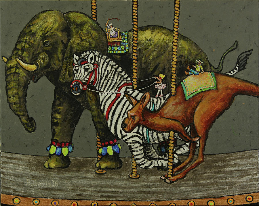 Carousel Painting - Carousel Kids 6 by Rich Travis