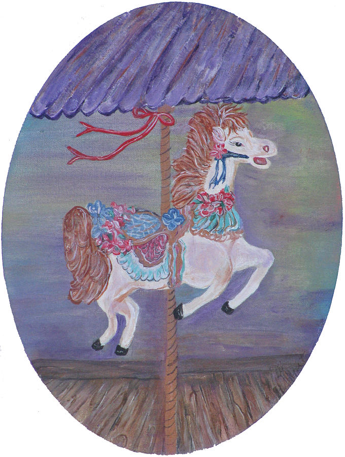 Carousel Painting - Carousel by Mikki Alhart
